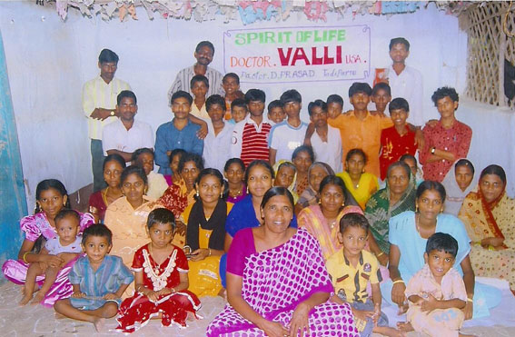 Holy Temple Church Orphans, Widows and Workers — Tadiparru, India. Gathering to Honor Bishop Dr. Valli and Spirit Of Life Fellowship Church USA.