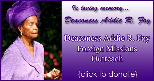 Deaconess Addie R. Foy Foreign Missions Outreach